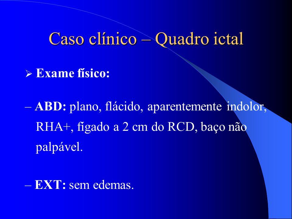 Caso clínico – Quadro ictal