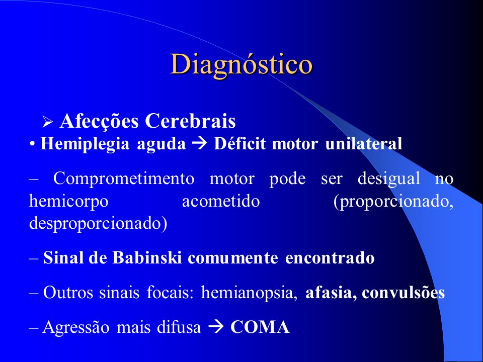 Diagnóstico Afecções Cerebrais