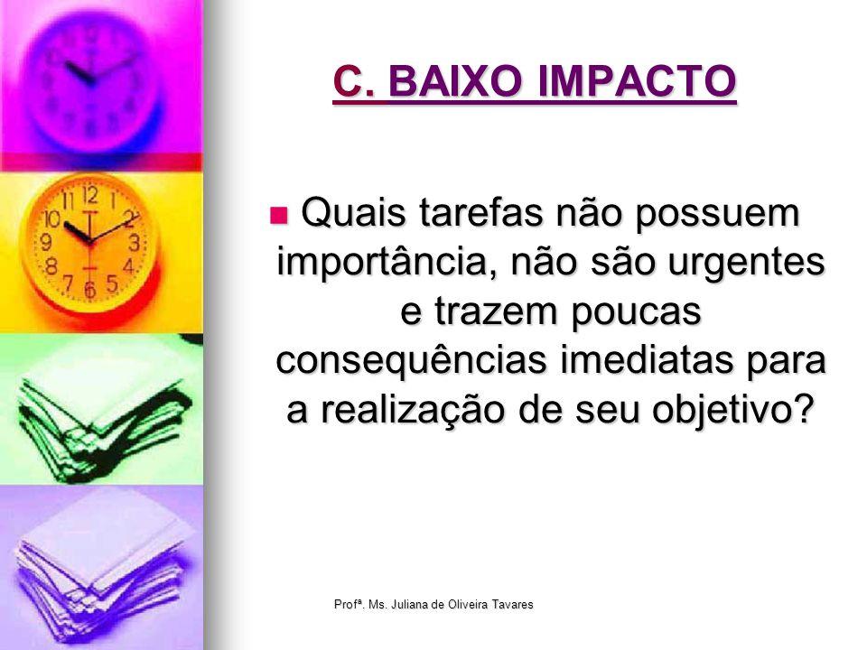 Profª. Ms. Juliana de Oliveira Tavares