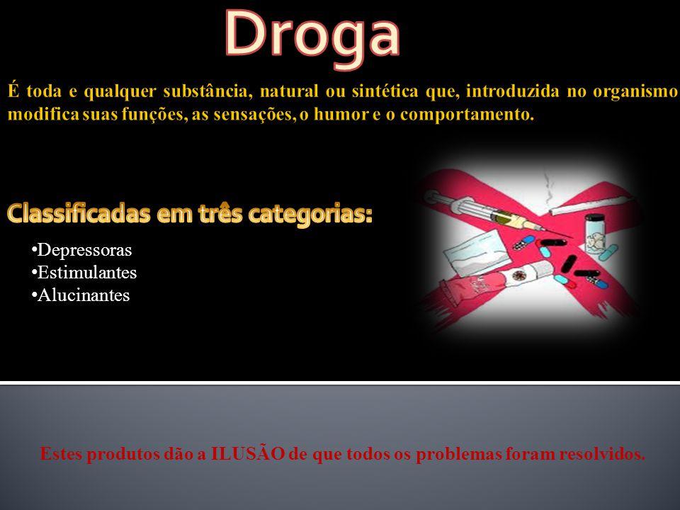 Droga Classificadas em três categorias: