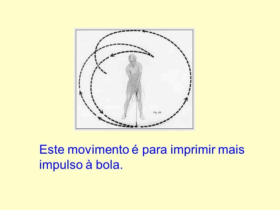 Este movimento é para imprimir mais impulso à bola.
