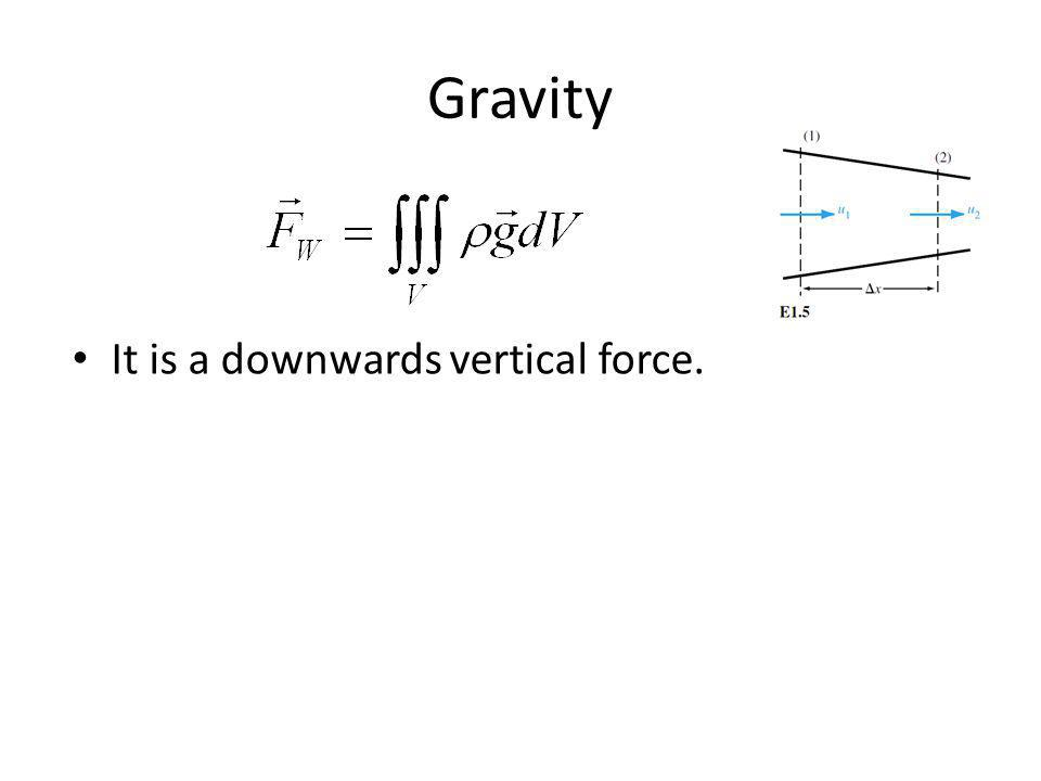 Gravity It is a downwards vertical force.