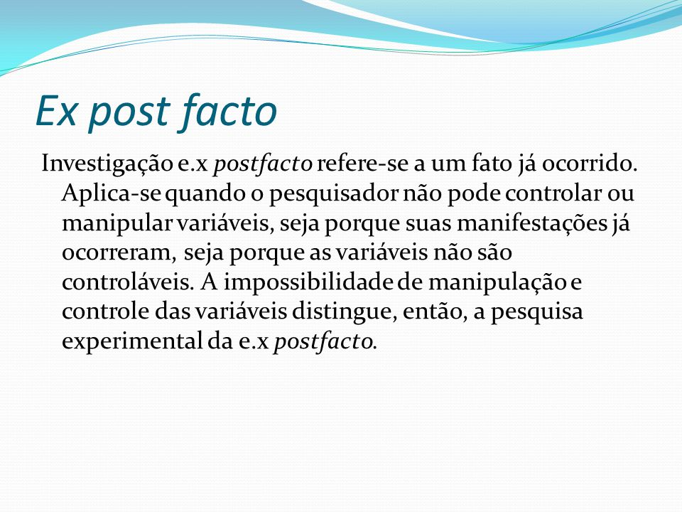 Ex post facto