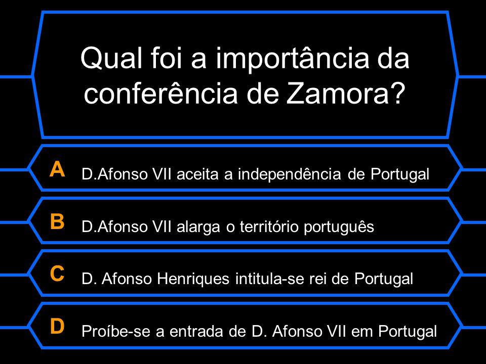 Qual foi a importância da conferência de Zamora