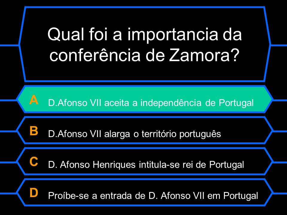 Qual foi a importancia da conferência de Zamora