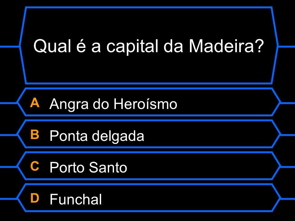 Qual é a capital da Madeira