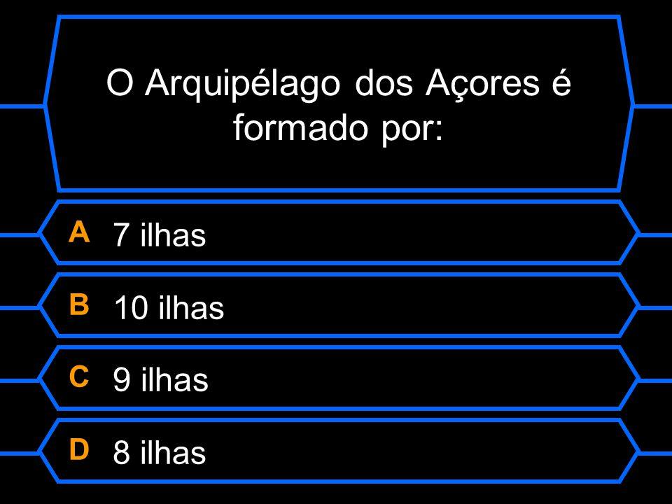 O Arquipélago dos Açores é formado por: