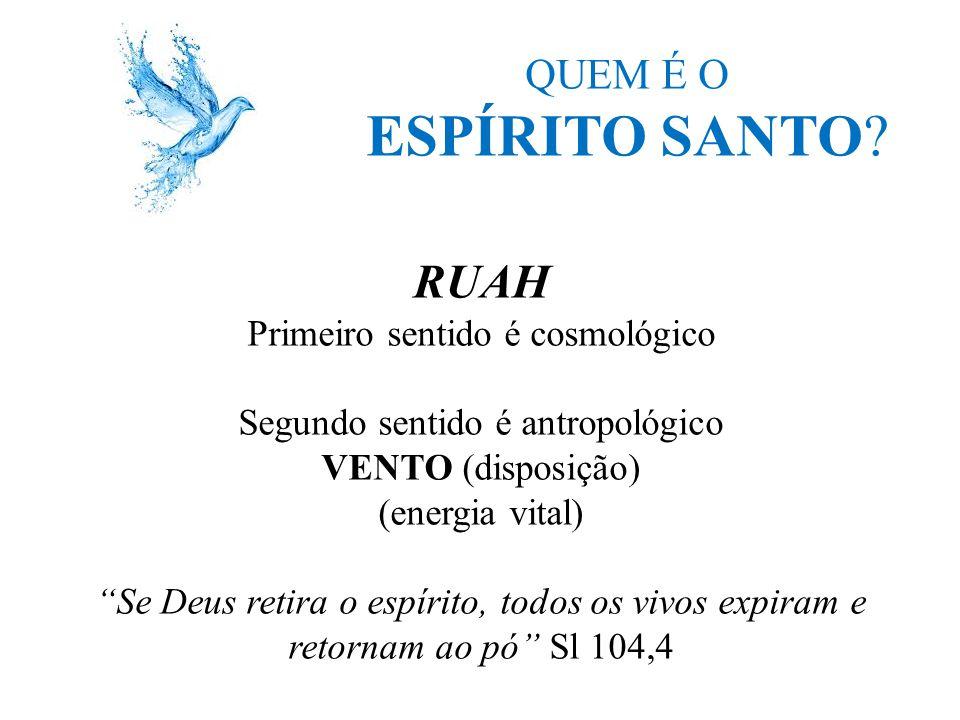 ESPÍRITO SANTO RUAH QUEM É O Primeiro sentido é cosmológico
