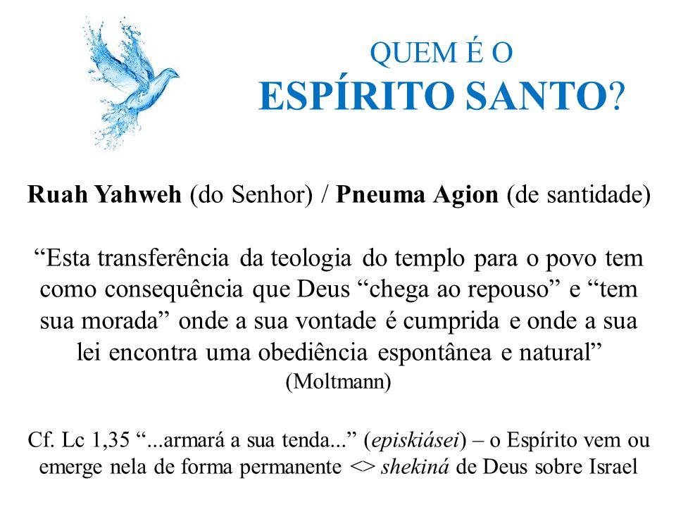 Ruah Yahweh (do Senhor) / Pneuma Agion (de santidade)