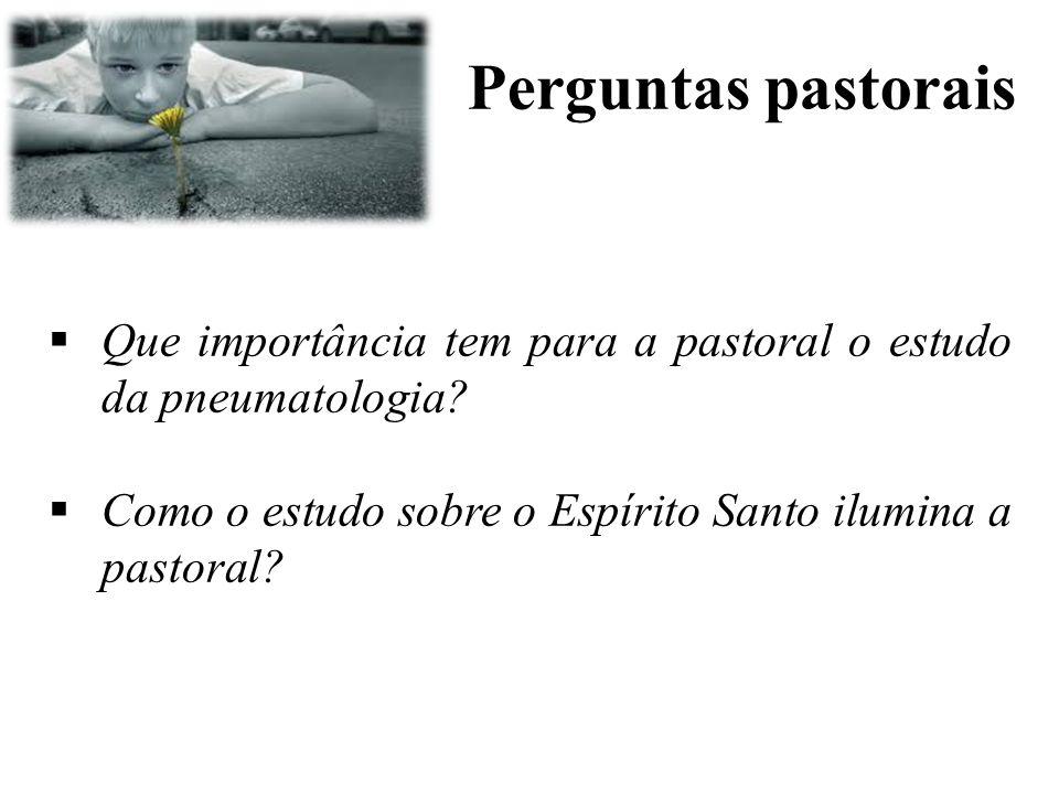 Perguntas pastorais Que importância tem para a pastoral o estudo da pneumatologia.