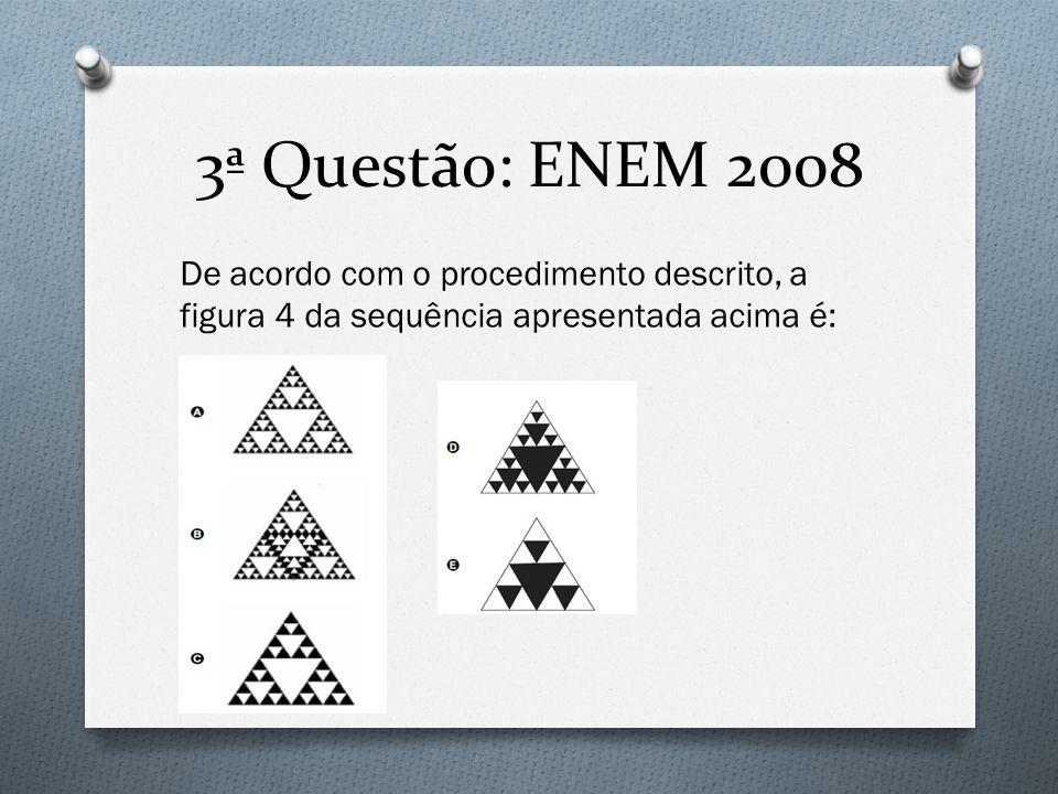 3ª Questão: ENEM 2008 De acordo com o procedimento descrito, a figura 4 da sequência apresentada acima é: