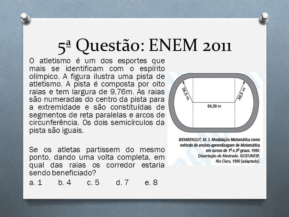 5ª Questão: ENEM 2011