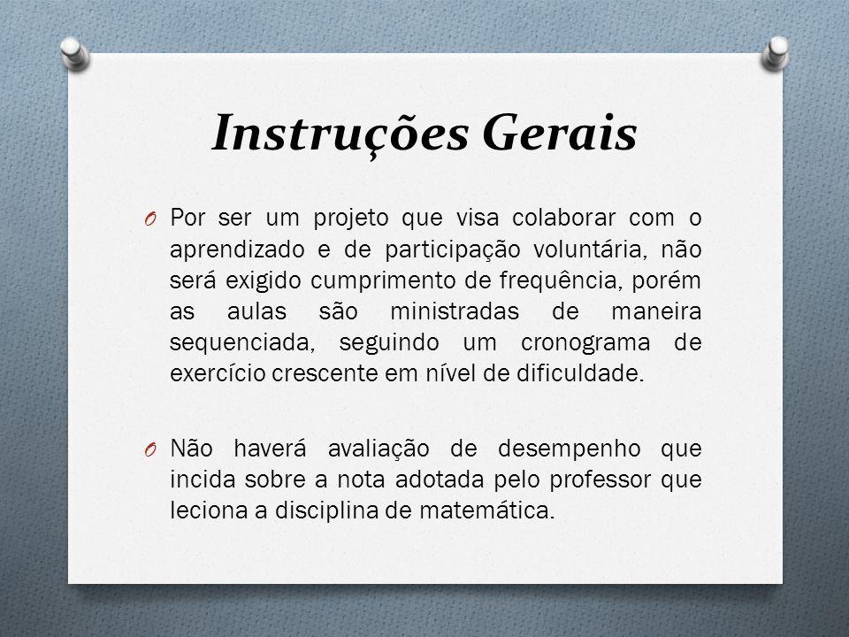Instruções Gerais