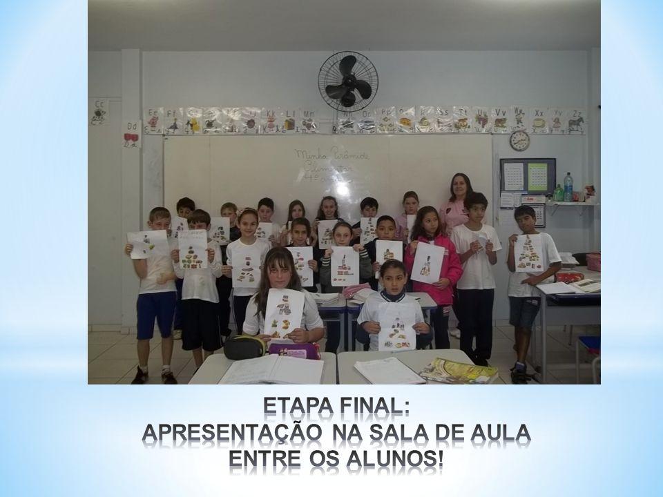 ETAPA FINAL: APRESENTAÇÃO NA SALA DE AULA ENTRE OS ALUNOS!