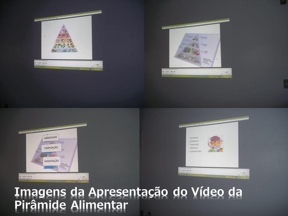 Imagens da Apresentação do Vídeo da Pirâmide Alimentar