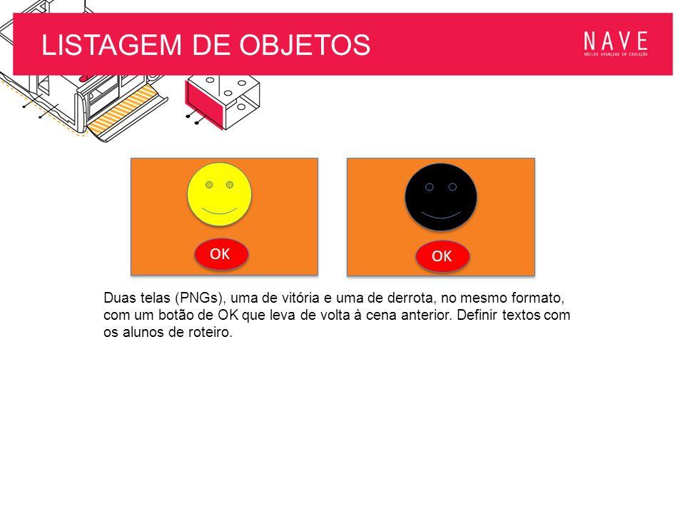 LISTAGEM DE OBJETOS OK OK
