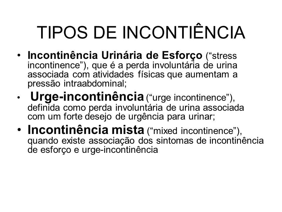 TIPOS DE INCONTIÊNCIA