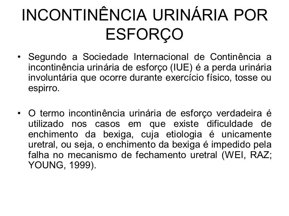 INCONTINÊNCIA URINÁRIA POR ESFORÇO
