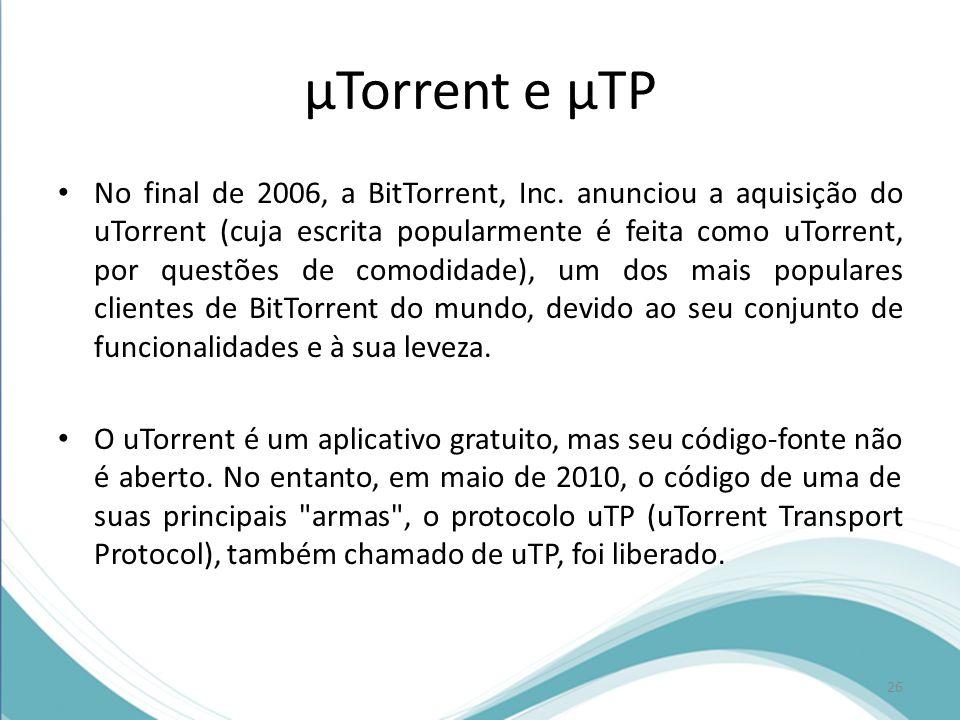 µTorrent e µTP