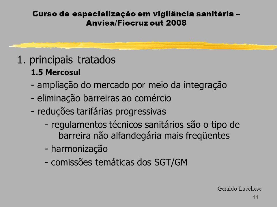 1. principais tratados - ampliação do mercado por meio da integração