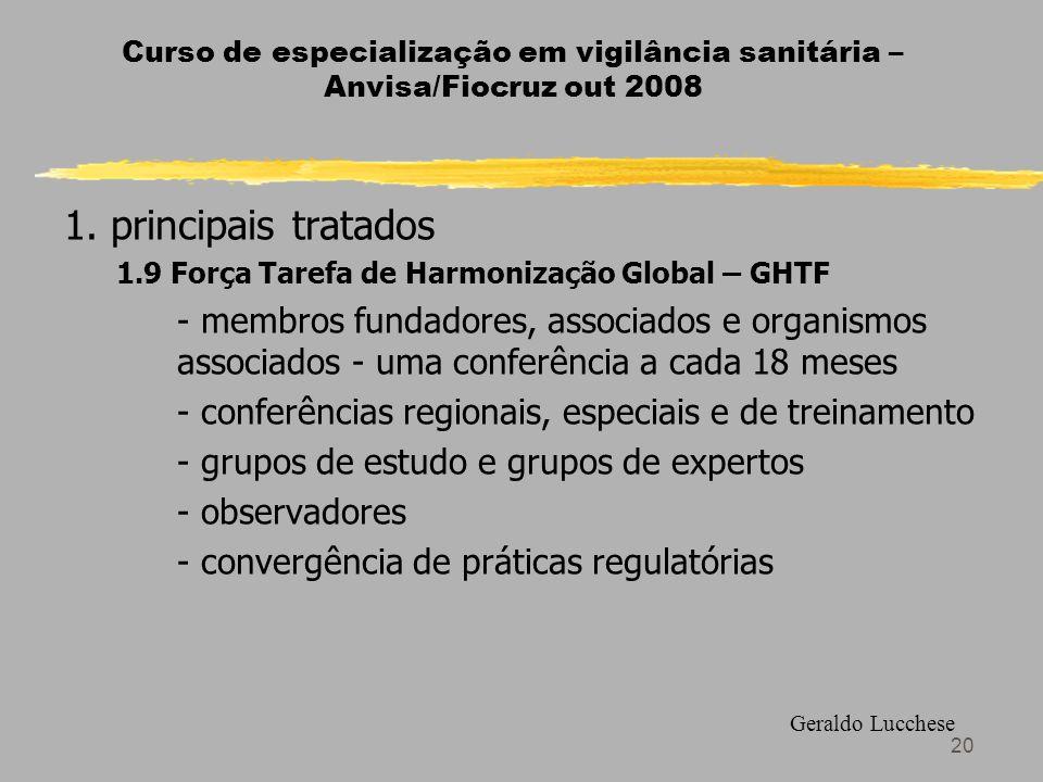 Curso de especialização em vigilância sanitária – Anvisa/Fiocruz out 2008