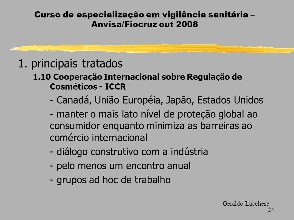 1. principais tratados - Canadá, União Européia, Japão, Estados Unidos