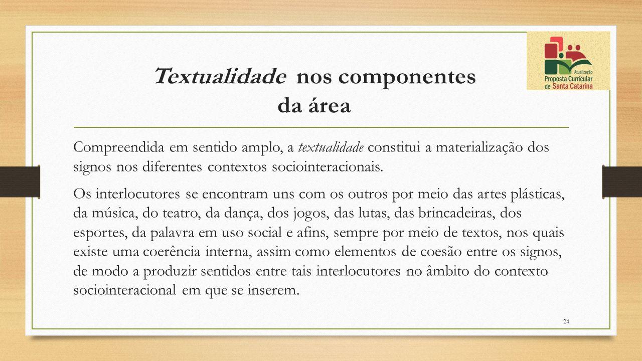 Textualidade nos componentes da área