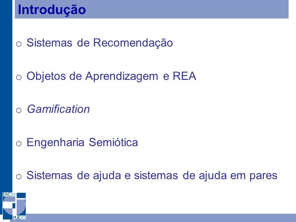 Introdução Sistemas de Recomendação Objetos de Aprendizagem e REA