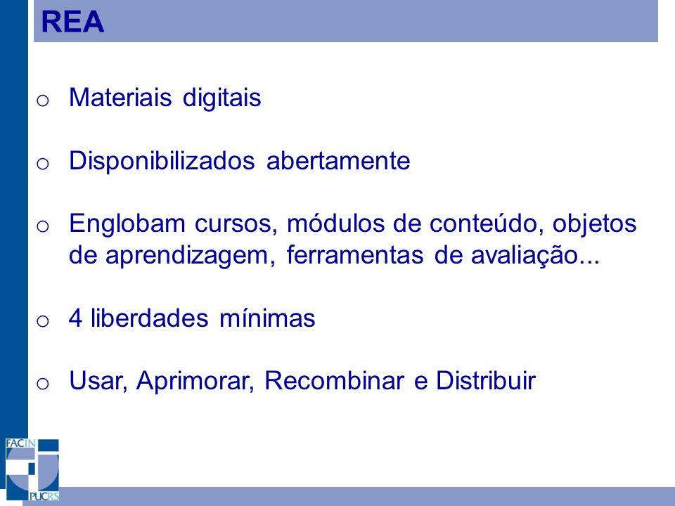 REA Materiais digitais Disponibilizados abertamente