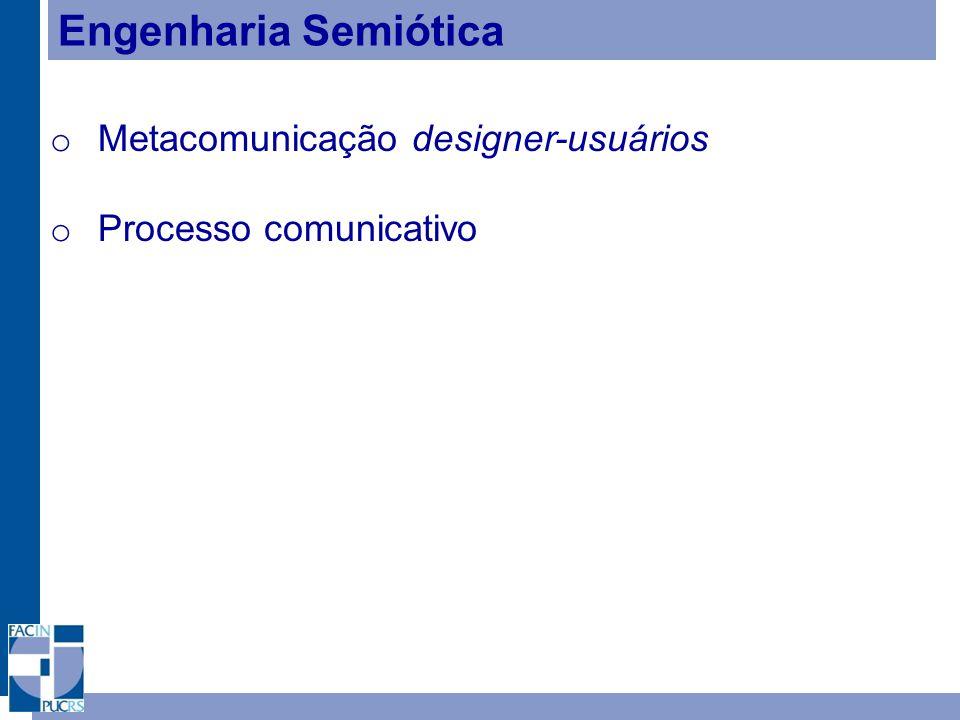 Engenharia Semiótica Metacomunicação designer-usuários
