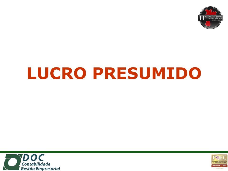LUCRO PRESUMIDO