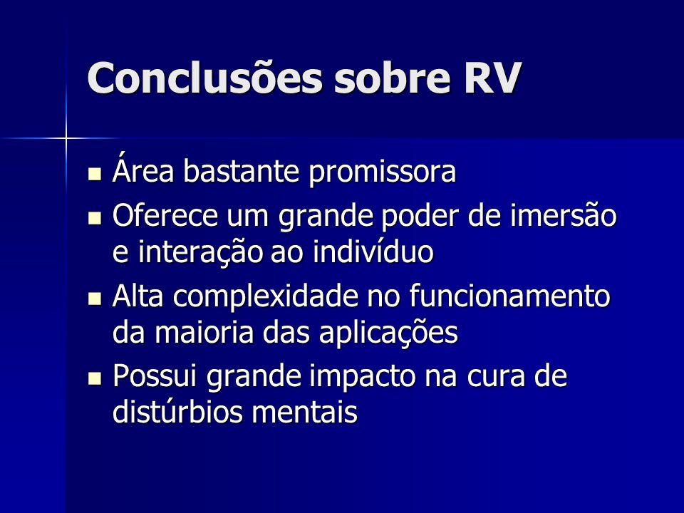 Conclusões sobre RV Área bastante promissora