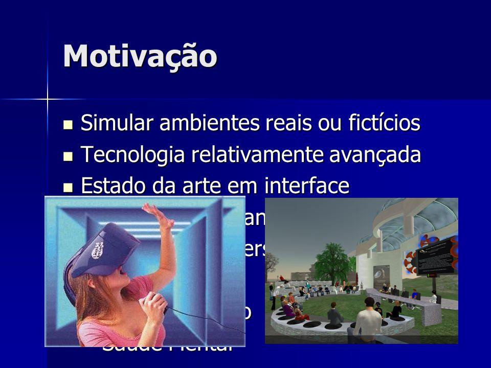 Motivação Simular ambientes reais ou fictícios