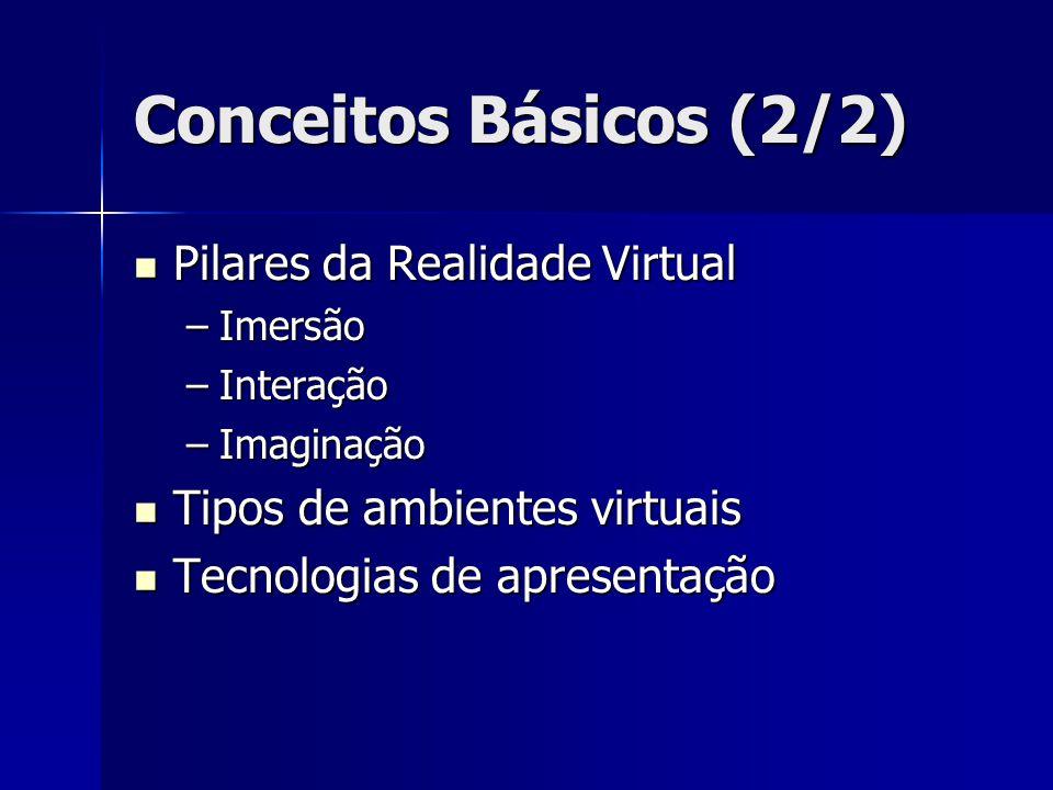 Conceitos Básicos (2/2) Pilares da Realidade Virtual