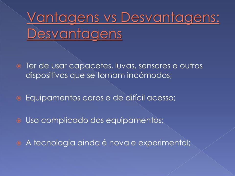 Vantagens vs Desvantagens: Desvantagens