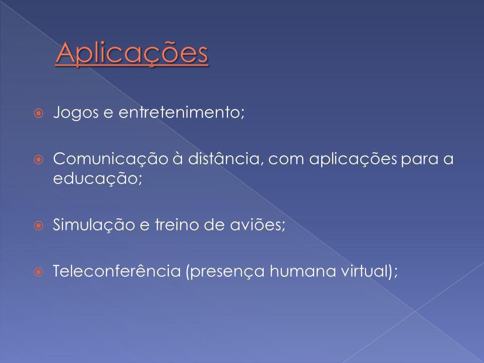 Aplicações Jogos e entretenimento;