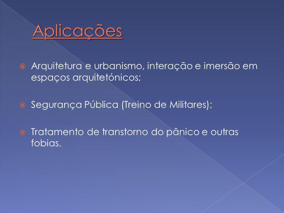 Aplicações Arquitetura e urbanismo, interação e imersão em espaços arquitetónicos; Segurança Pública (Treino de Militares);