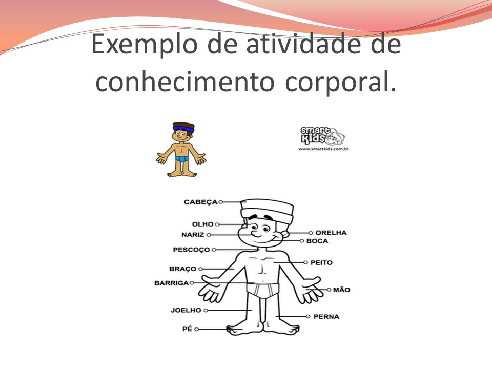 Exemplo de atividade de conhecimento corporal.