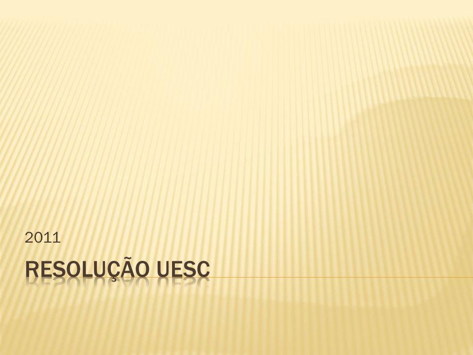 2011 RESOLUÇÃO UESC