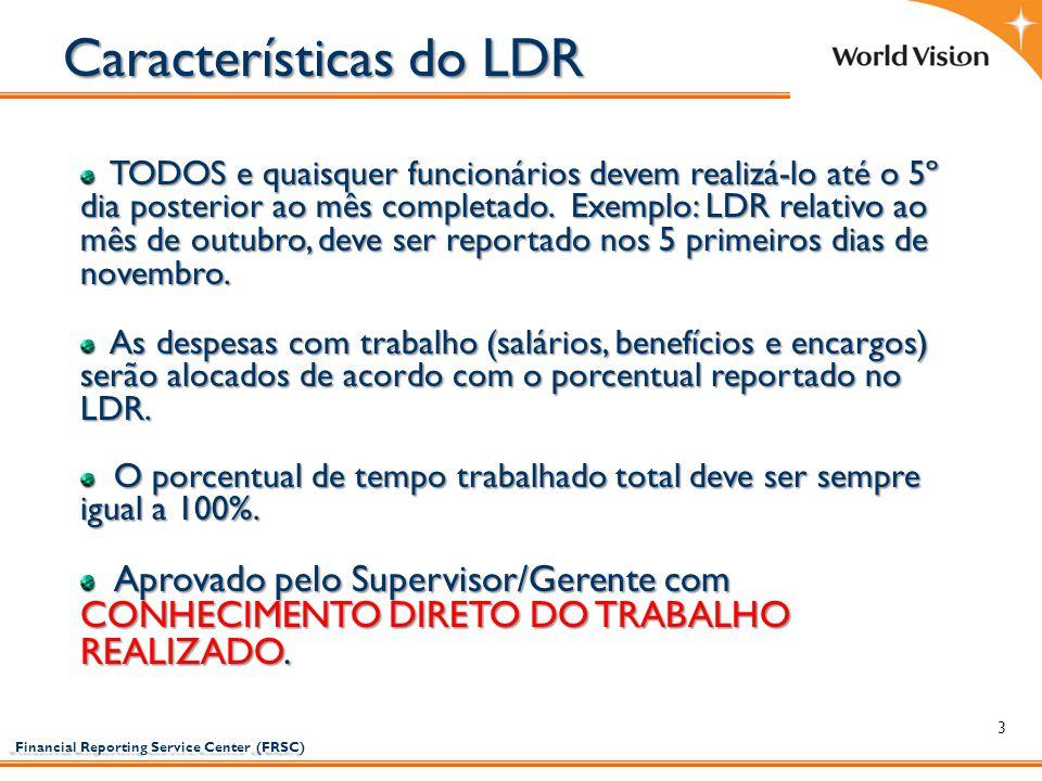 Características do LDR