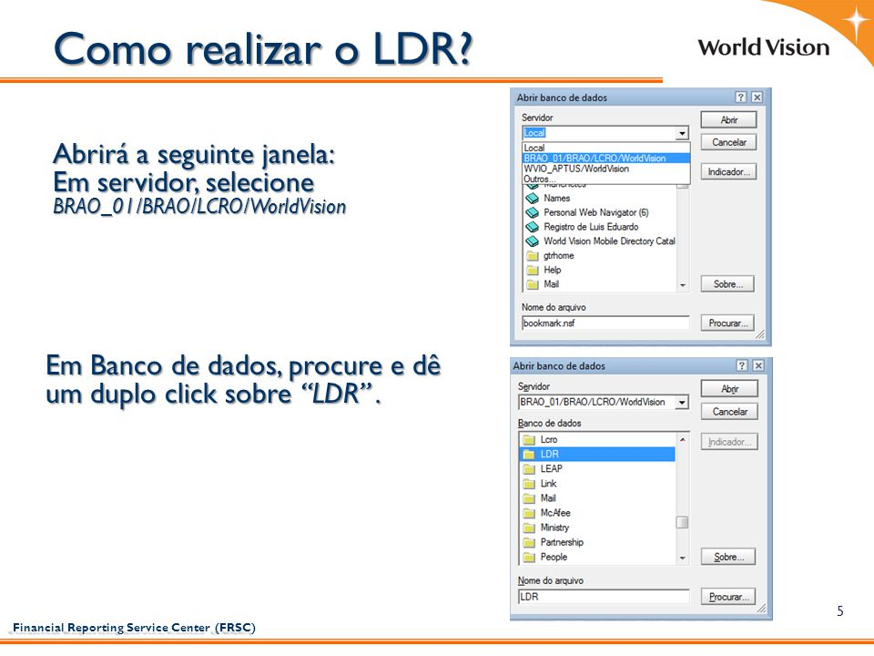 Como realizar o LDR Abrirá a seguinte janela: