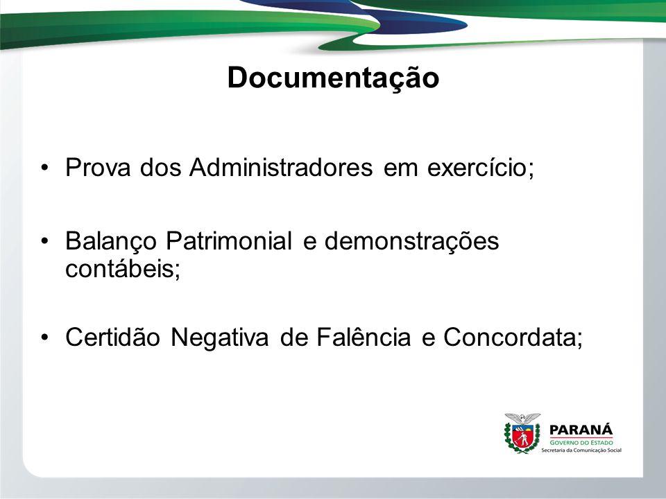 Documentação Prova dos Administradores em exercício;