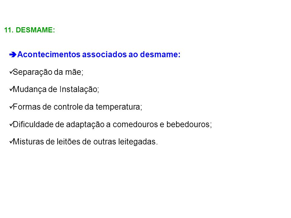 Mudança de Instalação; Formas de controle da temperatura;