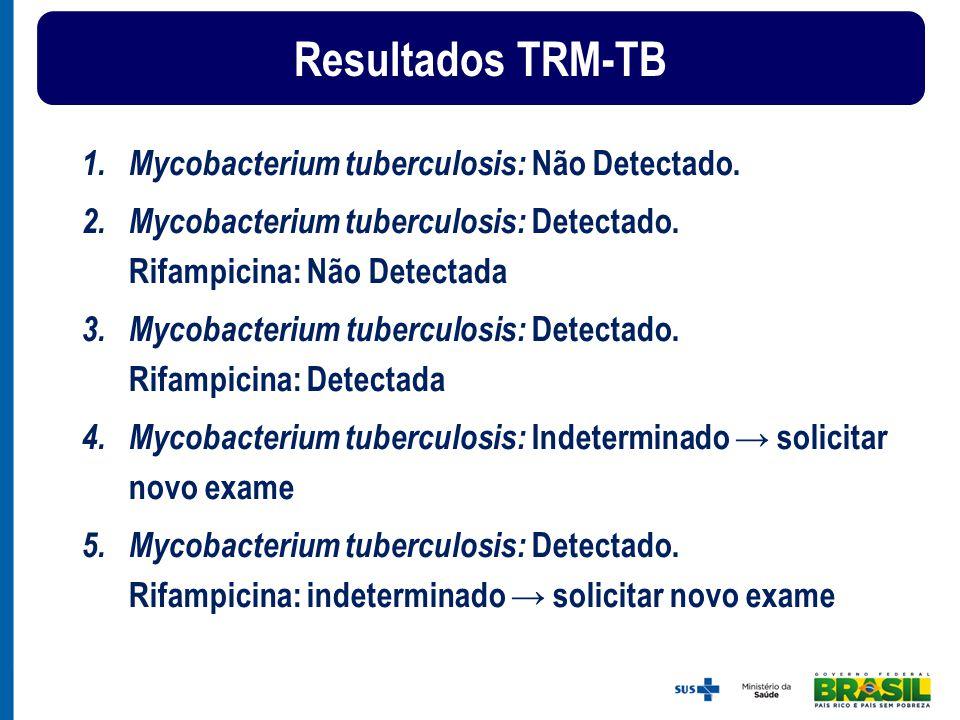 Resultados TRM-TB Mycobacterium tuberculosis: Não Detectado.