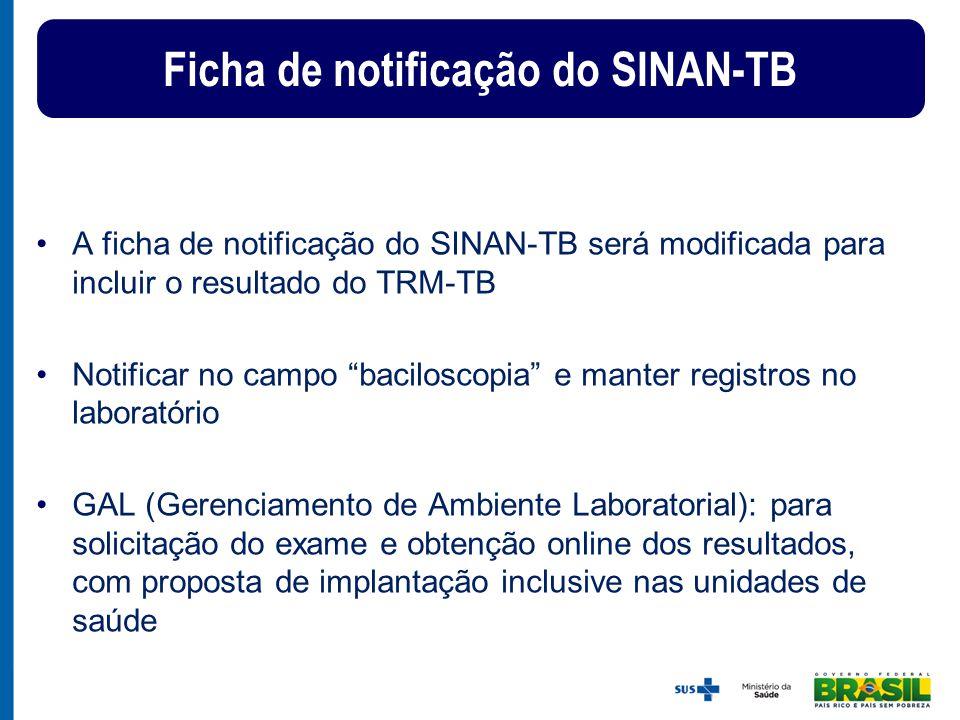 Ficha de notificação do SINAN-TB