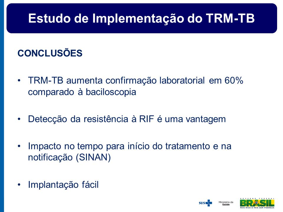 Estudo de Implementação do TRM-TB