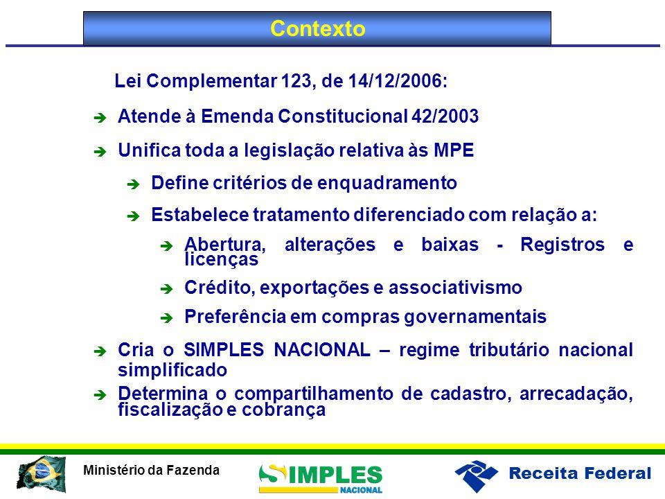 Lei Complementar 123, de 14/12/2006: