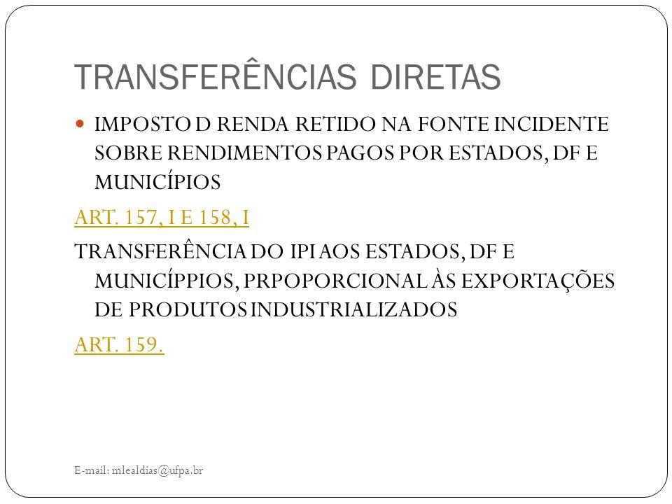 TRANSFERÊNCIAS DIRETAS