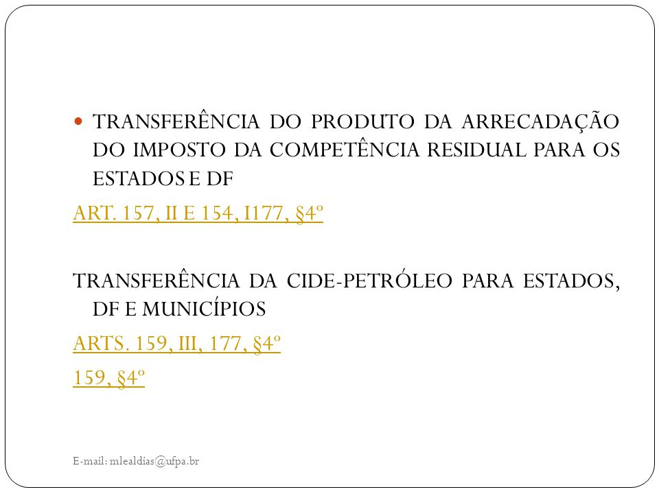 TRANSFERÊNCIA DA CIDE-PETRÓLEO PARA ESTADOS, DF E MUNICÍPIOS