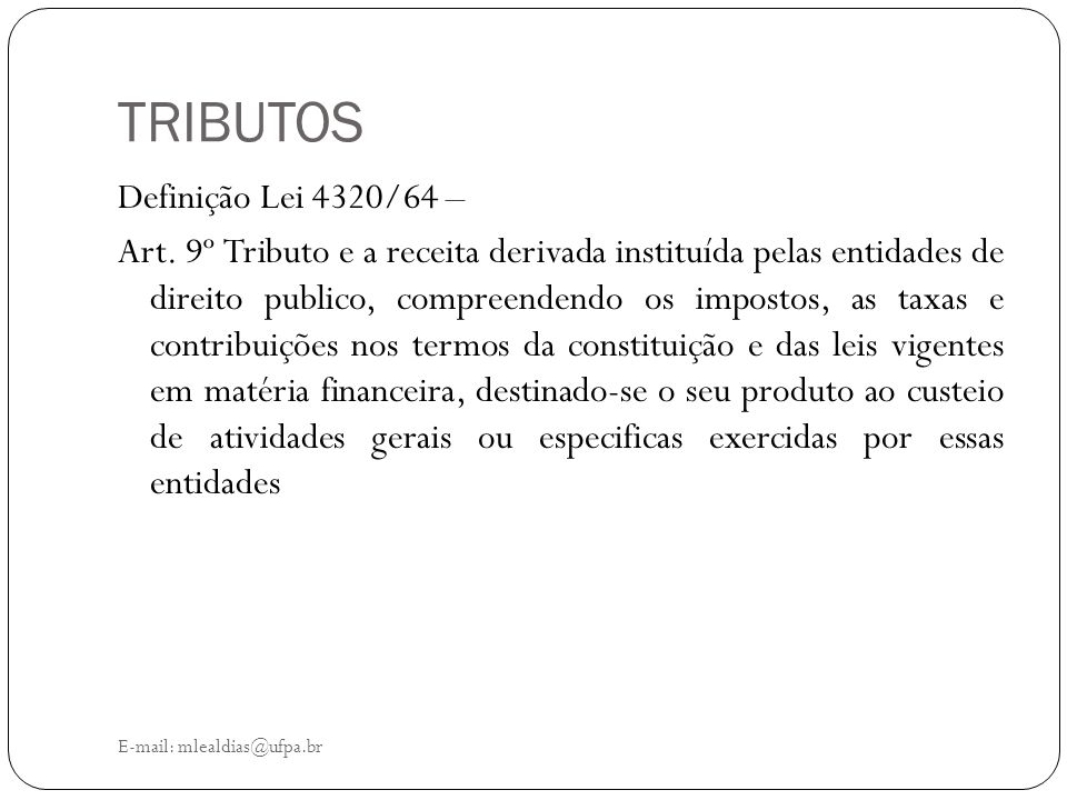 TRIBUTOS